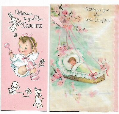 10 Vintage Cards, Annoucements etc. from Baby Showers and Christenings