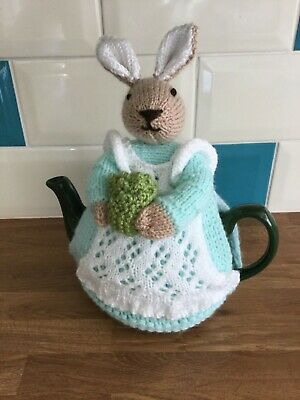 Mrs. Rabbit Hand Knitted Tea Cosy / cosie  Great Gift.