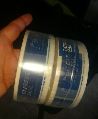 2 Unused RollS Vintage USPS EXPRESS Mail packaging Packing Shipping Tape