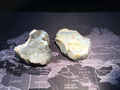 2 Early Neolithic Flint Scraper Tools.prehistoric