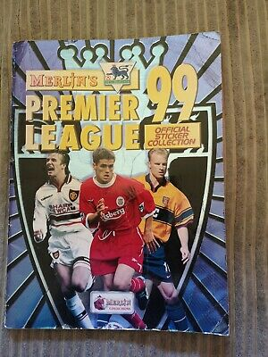 Merlin's Premier League 99 Official Sticker Collection Not Complete