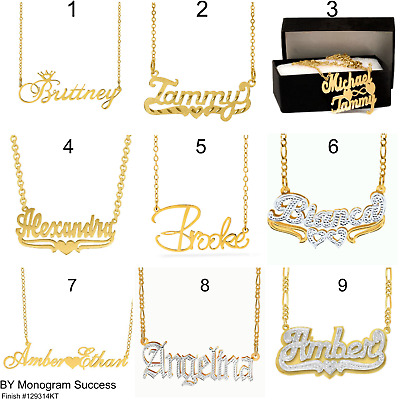 Better Jewelry INC Personalized .925 Sterling Silver Carrie Script Name Plate Necklace 3 Grams Made in USA