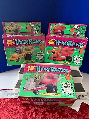 Complete Set of 3 Sealed Rat Fink Hydro Racers1990 Ed Big Daddy Roth Kenner
