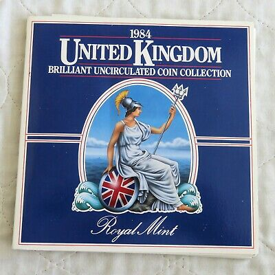 1984 ROYAL MINT UK UNCIRCULATED 8 COIN SET - sealed pack