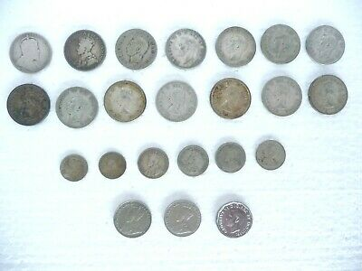 20 CANADIAN Silver Canada Coin Lot 14 quarters 4 dimes 2 Nickels + Extras