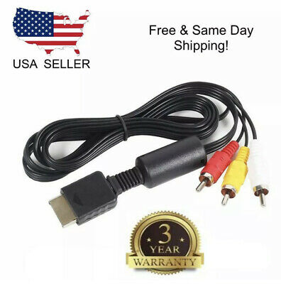 Brand New PLAYSTATION 1 2 3 PS1 PS2 PS3 Slim RCA Composite AUDIO VIDEO AV CABLE!