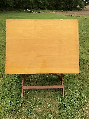 Vintage Wooden Drafting Table