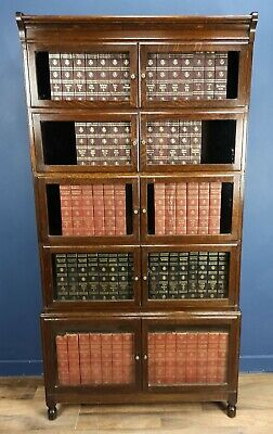 Oak Globe Wernicke Style  Barristers Library Bookcase Circa 1910 By Minty