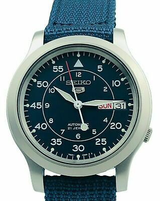 Seiko Mens Analog casual 5 Automatic SNK807K2 with papers Military Style Watch