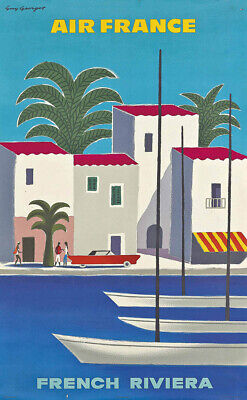 Air France - French Riviera Vintage Poster