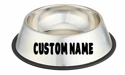 2 x Custom Pet Name Decal Sticker Personalized Dog Cat Bowl Car Kennel