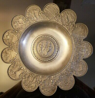 Antique 19th CENTURY SWISS PEWTER PLATE