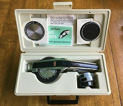 Vintage Dymo 1570 Deluxe Tapewriter Kit