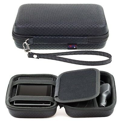 Black Hard Carry Case For Garmin Nuvi 42LM 44 44LM GPS With Accessory Storage