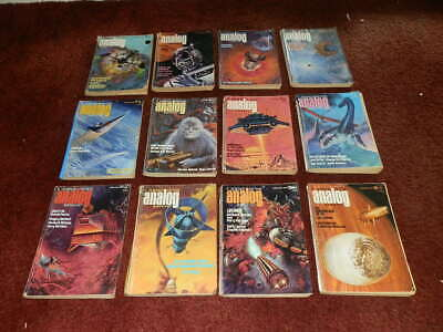 ANALOG Science Fiction Magazines 1975..FULL YEAR..12 ISSUES.