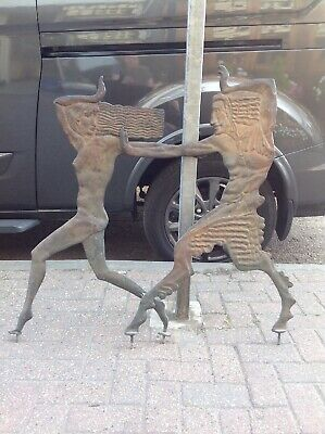 Very Rare Two Art Deco Bronze Panels Said To Come Off A 1920s Building In London
