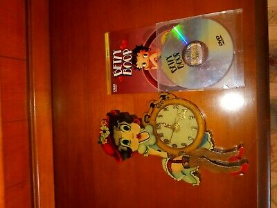 COLLECTIBLE Betty Boop! Wooden Clock + DVD