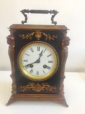 Antique French Ebonized Carriage Clock By Japy