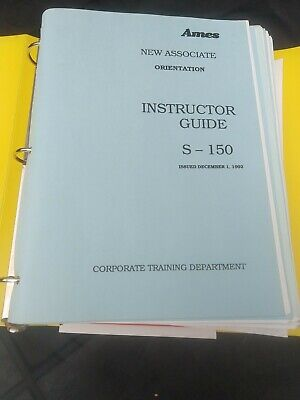 AMES DEPT Store STORE TRAINER Binder - Cashier, Svce Desk training modules +MORE