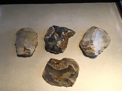 Neolithic Group Of Flint Tools.scrapers And Blade.prehistoric