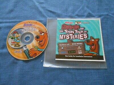 2004 Kellogg's Scooby-Doo Disc 5 Toon Tour of Mysteries DVD-ROM