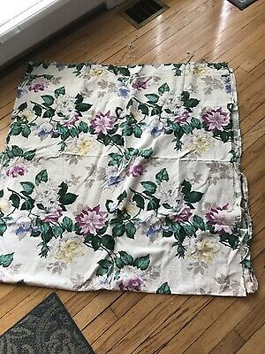 "2 Vintage Curtain Panels ,bark Cloth. 45"" X88"" Long"
