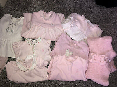 Baby Girls Bundle 9 Piece Includes Designer Outfits 3-9 Months