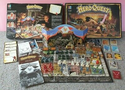 HEROQUEST boxed game 1989 Games Workshop / MB Games (Hero Quest)