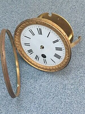 Antique French Clock Movement Dial Spares Repairs Brass (B)