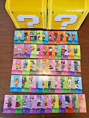 Animal Crossing Amiibo Cards Series 1 - 51 card lot - Never scanned - US Version