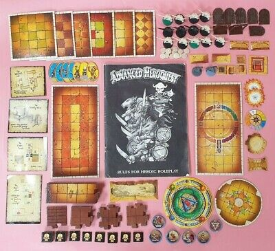 Advanced HeroQuest spares – manual, figures, tiles, counters, maps, doors etc (H