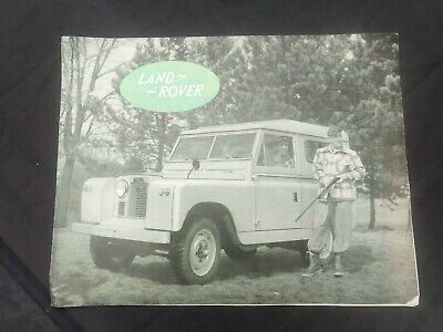 LAND ROVER Vintage Early 1960s ADVERTISING BROCHURE / POSTER