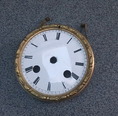Antique French Clock Dial Spares Repairs Brass Ornate Bezel(C)