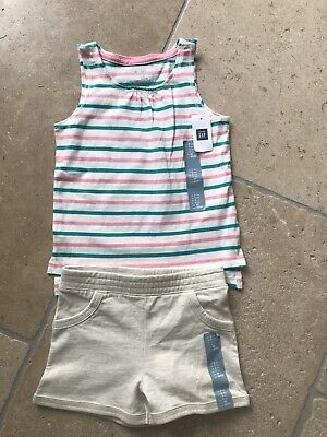 BNWT Baby Gap Girls Vest Top And Shorts Age 2-3 Years