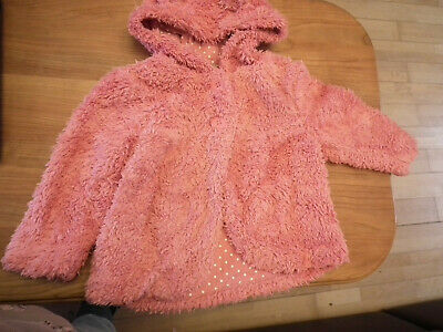 Baby Girl clothes, Jacket with hood, Coat Pink Fur TU Winter 12-18 months (13)
