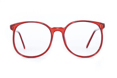 Original Vintage Spectacle Frame Red Early 80's 90's 52 x 18 Unworn - Ultra Rare