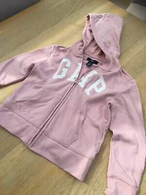 Gap Zipped Hoodie Pink With Sparkles age 6-7