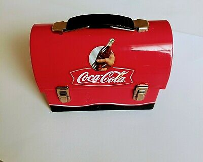 Coca Cola Red Tin Lunch Box Coke Brand Vintage Metal Lunch Box