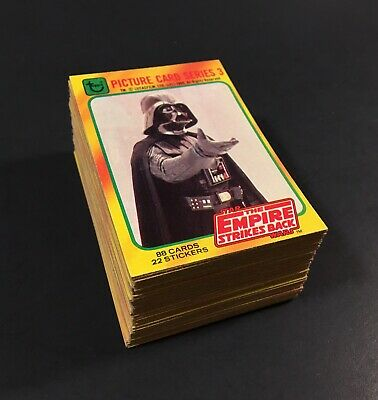 1980 Topps Star Wars Empire Strikes Back Series 3 Yellow Complete Set Lot of 88