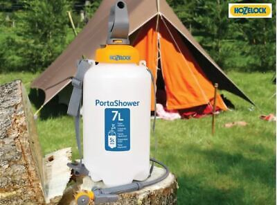 Hozelock 4-in-1 PortaShower 7 L Portable Camping Water Multi Shower with 2m Hose
