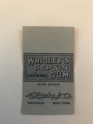 Vintage NOS 1912 Wrigley's PEPSIN TAB Gum Wrapper, RARE FIND, MINT CONDITION