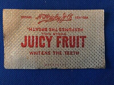 Vintage NOS EARLY 1908, Wrigley's JUICY FRUIT FOIL Gum Wrapper, ULTRA RARE