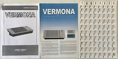 Vermona DRM1 mk2 drum machine original operation owner's manual and patch charts