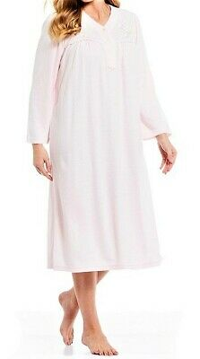 "Nwt Miss Elaine Cuddleknit Pink L/S 48"" Long Ballet Nightgown Gown $54 1X 1Xl"
