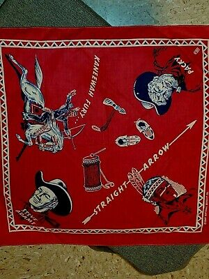 "Vintage National Biscuit Co. ""Straight Arrow Bandanna"" 1949 Radio Premium"