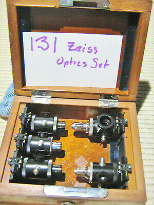 #131 Vintage Carl Zeiss Microscope 5 Epi-illumination Objectives