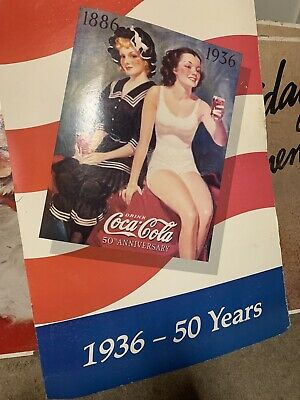 EXTREMELY RARE And Vintage Coca Cola Sign NEVER SEEN BEFORE! 1936 Antique Sign