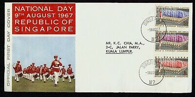 SINGAPORE 1967 National Day First Day Cover FDC