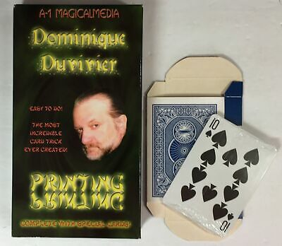 Magic Tricks : Dominique Duvivier's Printing - VHS - with custom made cards!