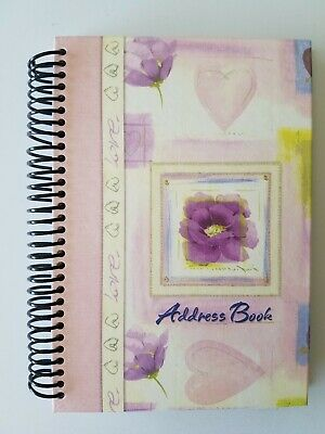 ADDRESS BOOK Martin Designs Limited : Pink Floral Flowers Version #2 NEW
